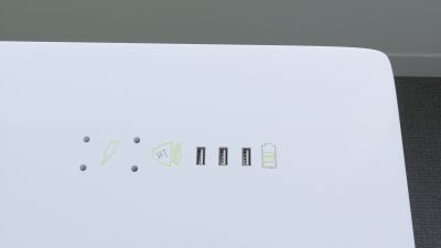 Baltas Išmanusis Stalviršis 150x75x3 cm Iš Daugiasluoksnės Jūrinės Faneros