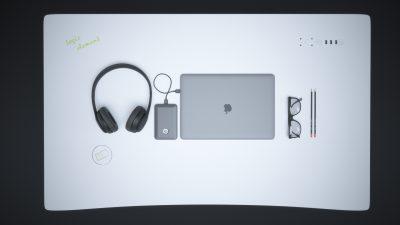 Baltas išmanus stalviršis su salotinės spalvos apvadu skirtas elektra reguliuojamo aukščio stalui. Baltas išmanus stalviršis gaminamas iš ypatingai tvirtos daugiasluoksnės jūrinės faneros. Stalviršiuje yra sumontuotos 3 USB jungtys po 2 A, 2 elektros lizdai po 220 V, taip pat QI wireless bevielis telefono kroviklis ir BT garso kolonėlės. Šį balta išmanujį stalviršį galite montuoti ant bet kurio elektra reguliuojamo stalo rėmo.