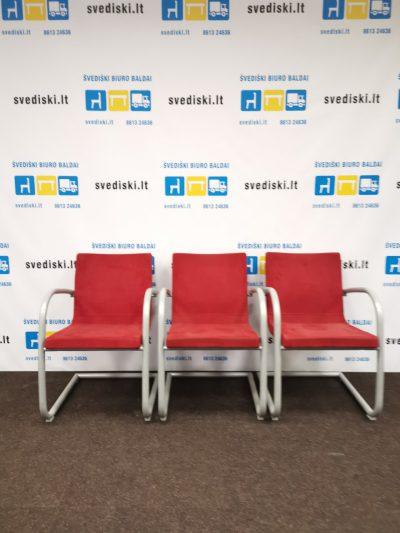 Švediški lt.Kinnarps Koy Raudona Lankytojo Kėdė-Fotelis, Švedija