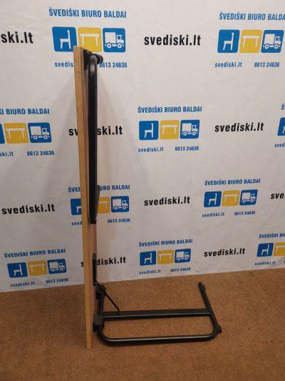 Sulankstomas Stalas Su Beržo 140x80cm Stalviršiu Ir Juodomis Kojomis, Švedija