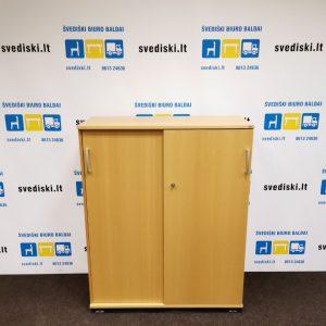 Švediški Lt Kinnarps spintelė su stumdomomis durimis