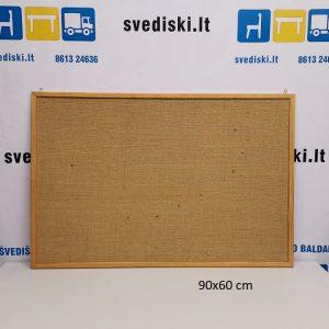 Švediški lt. Skelbimų Lenta 90x60 cm Su Mediniu Rėmu, Švedija
