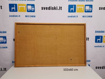 Švediški lt. Ruda Skelbimų Lenta Su Mediniu Rėmu 102x62 cm, Švedija