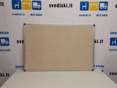 Švediški lt. Skelbimų Lenta 90x60 cm Su Aliuminiu Rėmu, Švedija