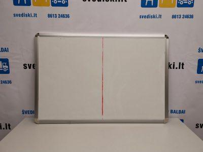 Balta Magnetinė Lenta Su Aliuminiu Rėmu 90x60 cm, Švedija