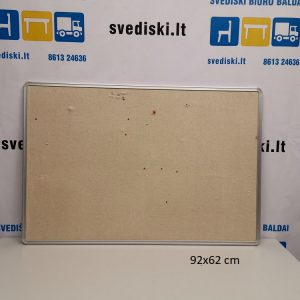 Švediški lt Skelbimų Lenta Su Audiniu 92x62 cm ir aliuminiu rėmu, Švedija