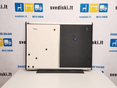 Švediški lt. Nobo magnetinė lenta su minkšta dalimi Švedija