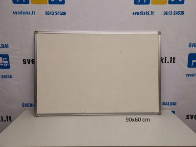 Švediški lt. Balta magnetinė lenta su suapvalintais kampais ir aliuminiu rėmu Švedija