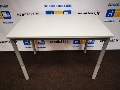 Švediški lt. Pilkas Stalas Su Užapvalintais Kampais Ir Reguliuojamo Aukščio Kojomis, Švedija