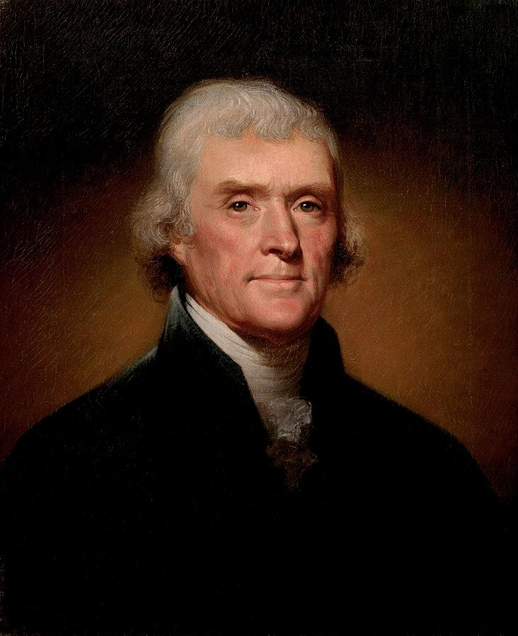 Thomas Jefferson vienas pirmuju ergonomisko stalo naudotojoas kintamojo aukscio stalas
