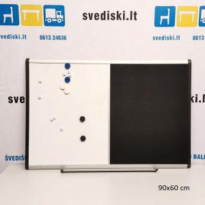 Dviejų Dalių Skelbimų Lenta Su Metaline Lentyna, Švedija
