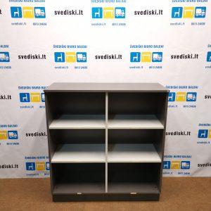Švediški Lt Antracito spintelė su atviromis lentynomis