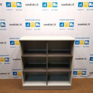 Švediški Lt. Dansk Design pilka spintelė su antracito spalvos lentynomis