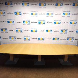 Švediški lt. Kinnarps prailginams konferencinis stalas Švedija