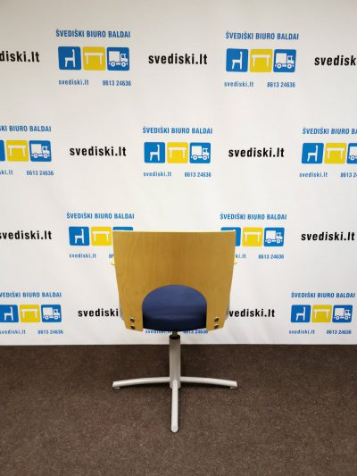 Švediški lt. Kinnarps Yin Mėlyna Keičiamo aukščio kėdė Švedija