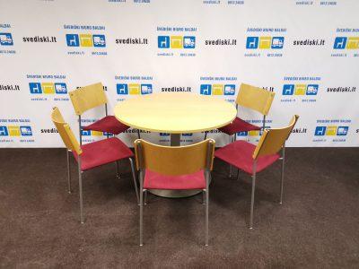 Švedija. lt Komplektas Su 5 EFG kėdėmis ir Apvaliu Stalu, Švedija