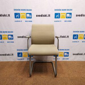 Švediški lt Steelcase Replay Lankytojų Kėdė Su Chromo Rėmu Ir Porankiais , Prancūzija