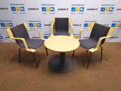 Švediški.lt Komplektas Su Lammhults Trimis Kėdėmis Ir Apvaliu Stalu, Švedija