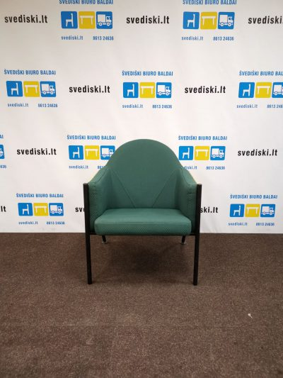 Švediški.lt EFG OSKA Tamsiai Žalias Fotelis Su Porankiais, Švedija