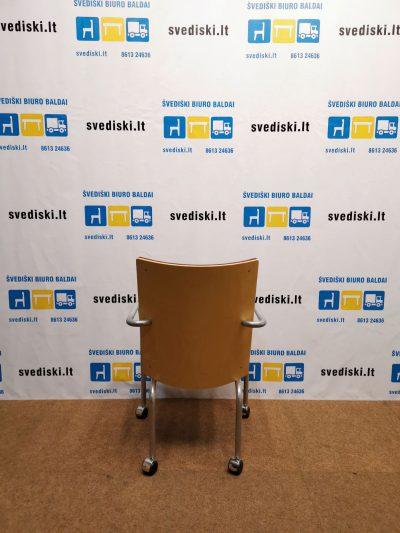 Švediški.ltBordo Lankytojo Kėdė Su Porankiais Ir Ratukais, Švedija