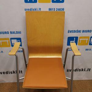 Klaessons Mobler AB Beržo Lankytojo Kėdės Su Eko Oda, Švedija