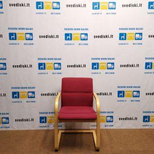 Švediški.lt Martela Rausva Lankytojo Kėdė Su Mediniu Rėmu, Švedija