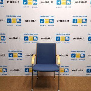 Švediški.lt Martela Mėlyna Lankytojo Kėdė Su Porankiais, Švedija