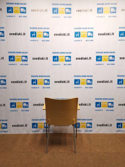 Švediški.lt Lammhults Mobel AB Su Smėlio Spalvos Audiniu Lankytojo Kėdė, Švedija