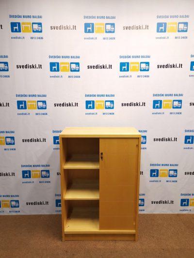 Švediški.lt Beržo Spintelė Su Stumdomomis durimis 119,5x81,5x42cm, Švedija