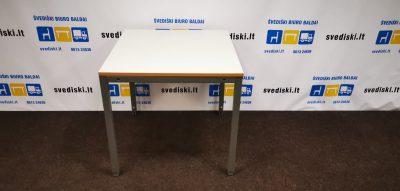 Švediški.lt Reguliuojamo Aukščio Stalas Su Baltu Stalviršiu, Švedija