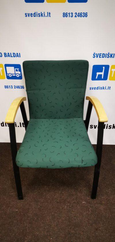Švediški.lt Kinnarps ARCUS Žalia Lankytojo Kėdė Su Porankiais, Švedija