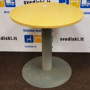 Švediški.lt Kinnarps Ąžuolo Apvalus Stalas 70cm Skersmens,Švedija