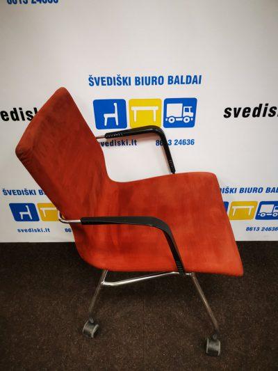 Švediški.lt Bent Krogh Harmonics Ruda Lankytojo Kėdė Su Chromuotu Rėmu, Švedija