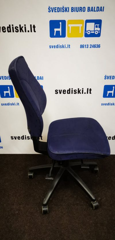 Švedišlki.lt Kinnarps 6000 Free Float Mėlyna Biuro Kėdė, Švedija