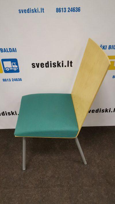 Švediški.lt Kleassons Mobler AB Žalia Lankytojo Kėdė Su Beržo Fanera, Švedija
