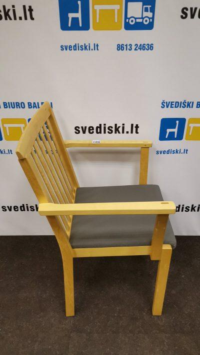 Švediški.lt Beržo Lankytojo Kėdė Su Porankiais, Švedija