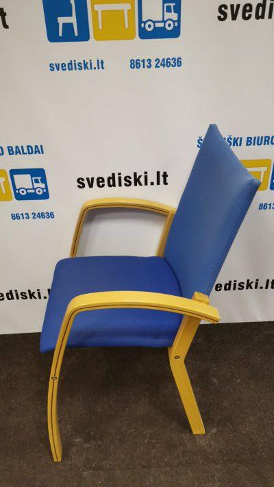 Švediški.lt EFG Mėlyna Lankytojo Kėdė Su Buko Rėmu, Švedija
