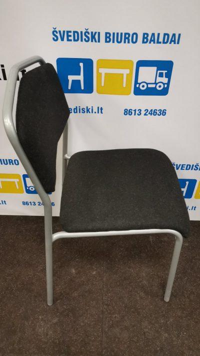 Švediški.lt Ikea Sarna Juoda Lankytojo Kėdė Su Pilku Rėmu, Švedija