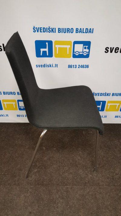 Švediški.lt Juoda Lankytojo Kėdė Su Chromo Rėmu, Švedija