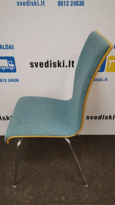 Švediški.lt Melsva Lankytojo Kėdė Su Beržo Nugara Ir Chromuotu Rėmu, Švedija