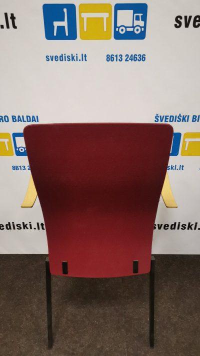 Švediški.lt Klaessons Fjugesta Bordo Lankytojo Kėdė Su Beržo Porankiais, Švedija