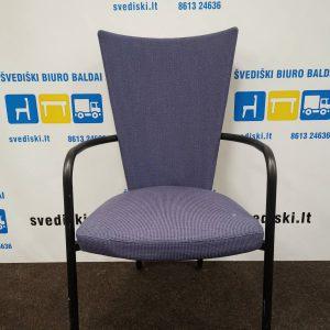 Švediški.lt Kinnarps ARI Violetinė Lankytojo Kėdė Su Juodu Rėmu, Švedija