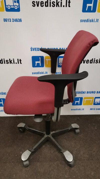 Švediški.lt HAG H05 Rausva Biuro Kėdė Su Porankiais, Švedija