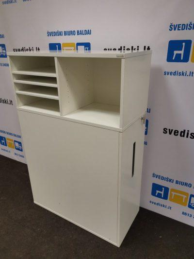 Švediški.lt Horreds Balta Ištraukiama Spintelė Su Atviromis Lentynomis, Švedija