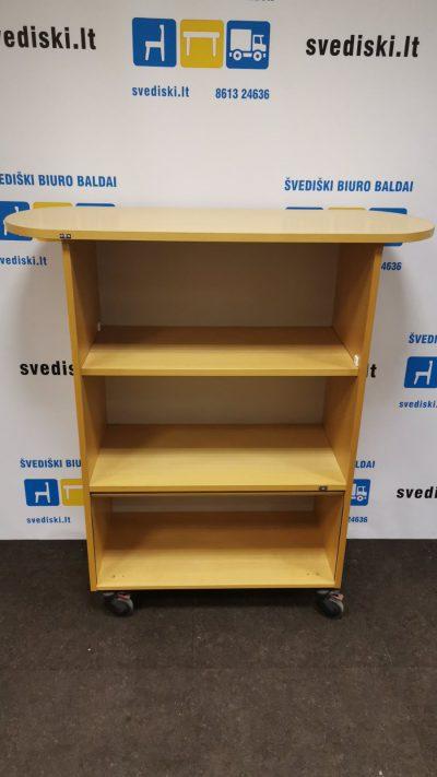 Švediški.lt EFG Buko Spintelė Su Atviromis Lentynomis Ir Žaliuzės Tipo Uždaroma Dalimi, Švedija