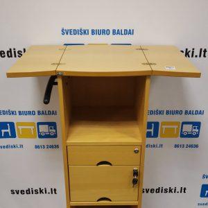 Švediški.lt EFG Buko Spintelė Su Atverčiama Lentyna Ir 2 Rakinamais Stalčiais, Švedija