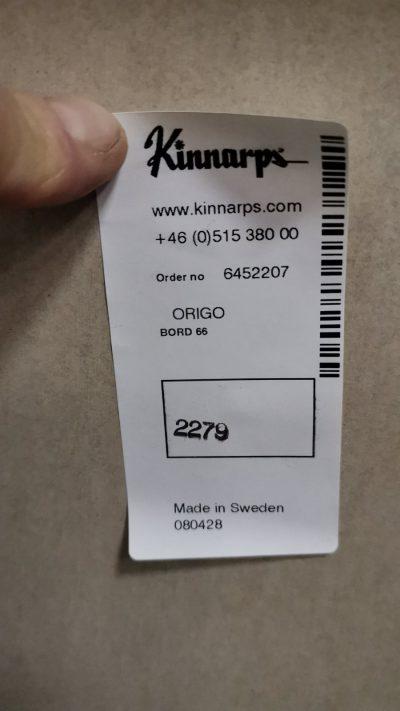Kinnarps Origo Reguliuojamo Aukščio Stalas Su Buko Stalviršiumi, Švedija