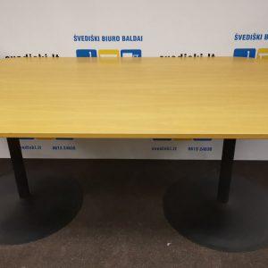 Švediški.lt Buko Konferencinis Stalas Su Juodomis Kojomis, Švedija