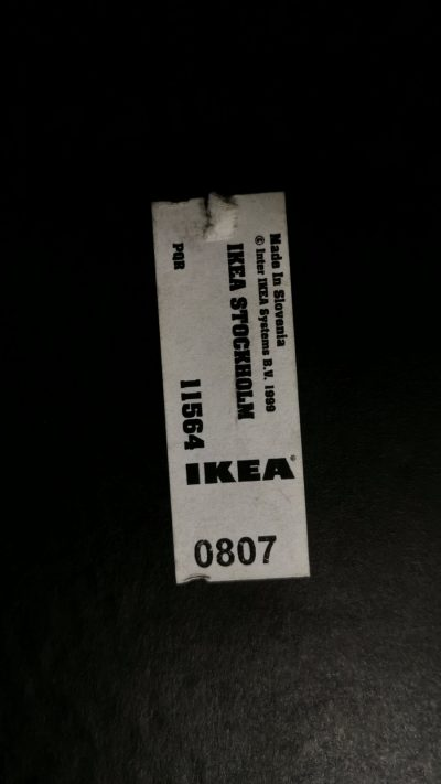 Švediški.lt Ikea Stockholm Juodas Stalas Su Lentyna, Švedija