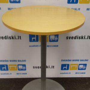 Švediški.lt Baro Stalas Su Pilka Metaline Koja, Švedija